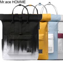 Brand Black And White Print 14inch Laptop Backpack Women Waterproof School Backpack With Handle Men