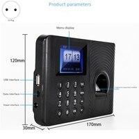 HEIßER-Biometrische Teilnahme System Fingerprint Reader Time Clock Mitarbeiter Teilnahme Maschine Access Control Pendeln Punch Karte Ma