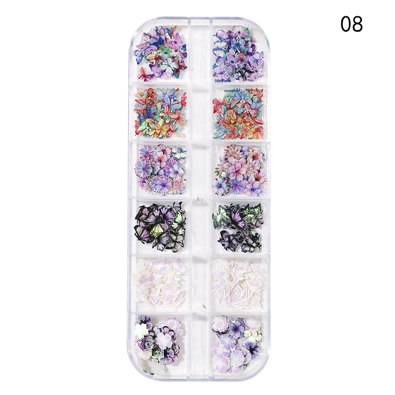 Набор из 12 наклеек для украшения ногтей в виде подсолнуха 3d