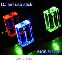 Brand New USB 3.0 High Speed Writing Reading Colorful LED light pioneer Dj premium LED pendrive With Box 16GB 32GB 64GB 128GB