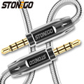 Аудиокабель STONEGO Jack 3 5 мм  кабель Aux для iPhone 6  Samsung galaxy s8  автомобильные наушники Xiaomi  аудио разъем 1 м/2 м