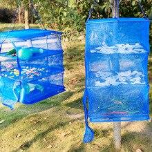 4 Sizes Fish Net Flake Drying Fishing Rack Folding Mesh Hanging Non-Toxic Vegetable Dishes Hanger Dryer  A228