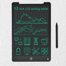 Tableta de escritura LCD ultrafina de 12 pulgadas, tablero electrónico de dibujo Digital colorido, Mini libreta portátil para niños y adultos
