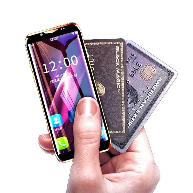 K-اللمس سلسلة أصغر هاتف محمول صغيرة مقفلة البسيطة الهاتف الذكي الروبوت 8.1 الهواتف المحمولة MTK6580 رباعية النواة هاتف ذكي