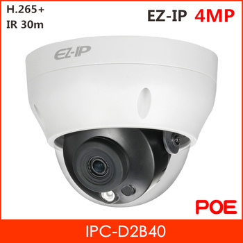 Dahua IPC-D2B40 4MP EZ-IP IR Mini Camera H.265+ 1/3 4 Megapixel CMOS Day/Night Waterproof  POE Security ip Camera IPC-HDPW1431R2 100% original 6mp dahua ip camera english firmware ir 80m h 265 ipc hfw4631m i2 ir cut hd1080p support poe dh ipc hfw4631m i2