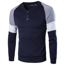2019 Autumn And Winter New Men'S Sweater Slim Sweater Casual Pullover Men'S O-Neck Color Matching Sweater Men'S Sweater
