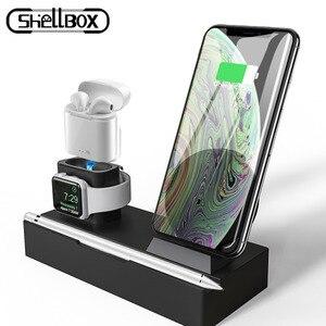 Image 1 - Drahtlose Ladegerät Stehen für iPhone AirPods Apple Uhr, ladung Dock Station Ladegerät für Apple Uhr Serie 4/3/2/1 iPhone X 8 XS