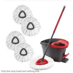 2/3/4 sztuk wymiana 360 głowica obrotowa Easy Magic Microfiber mopa obrotowego do podłóg głowy dla gospodyni na piętro w domu mop do czyszczenia w Mopy od Dom i ogród na