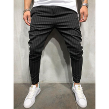 New Men's Fashion Joggers Pants Hip Hop Striped Urban Straig