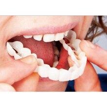 Silicone Upper/Lower False Teeth Veneers Dentures Fake Tooth Lower