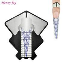 100 шт профессиональная овальная форма для ногтей акриловая