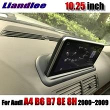 Samochodowy odtwarzacz multimedialny NAVI 10.25 cal dla Audi A4 S4 B7 8E 8H 2000 ~ 2009 Radio ekran dotykowy Wifi GPS mapa CarPlay nawigacja