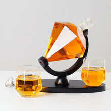 Glasses Of Wine Diamond Wine Decanter Wine Jug Glass Bottle Wine Glasses Bar Accessories Barware Cocktail Set