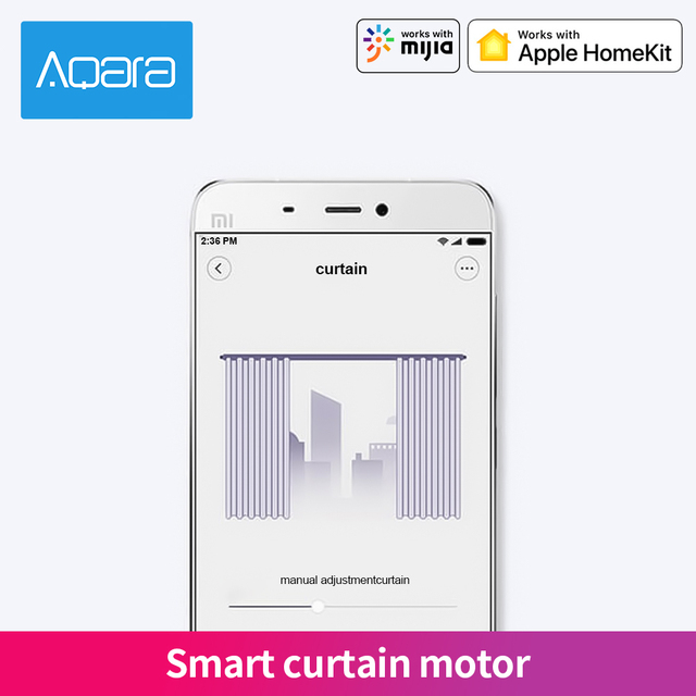 Aqara Smart Curtain Motor Zigbee Intelligent Curtain Wireless Timing Electric Curtain Motor Smart Home APP Remote Control
