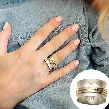 Retro miłość zawijanie pierścionek damska Vintage pierścionek ozdoba pierścionek damski kreatywne kobiety ślub modny urok biżuteria pierścionek tanie i dobre opinie CN (pochodzenie) Miedziane STAINLESS STEEL Tytanu Brak Mosiądz Ze stali tytanu Aluminium Ze stopu aluminium MIŁOŚNICY