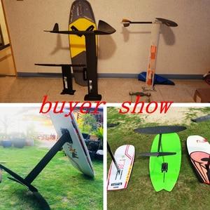 Image 5 - Largest L hydrofoil Pure 3K Carbon Wings+Aluminum fuselage mast plate  Hydrofoil Foils for SUP Surf Foil