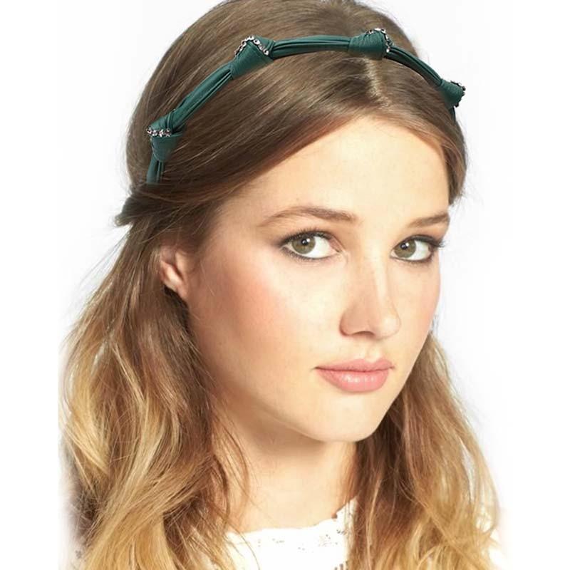 Купить кожаные повязки для волос cn стразы девушек женская винтажная