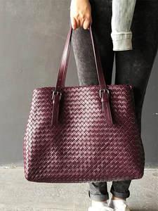 Woven-Bag Sheepskin Shoulder-Straps Woman High-Quality And Adjustable Internal Dermis
