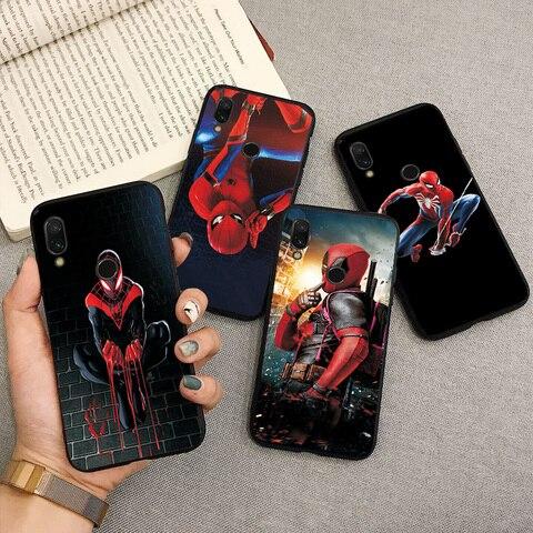 For Xiaomi Redmi Note 7 Black TPU Cute Cartoon Phone Case Capa Fundas For Redmi 7A Note 4x Note 7 5 6 Pro Back Cover Shell Coque Multan