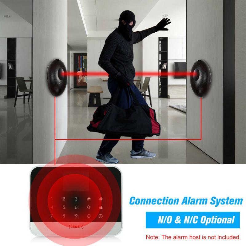 Safe Infrared Detector Sensor 20m Active Photoelectric Single Infrared Beam Infrared Sensor For Gate Door Window Burglar Alarm