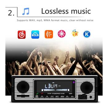 Auto Car Radio Bluetooth Vintage Wireless MP3 Multimedia Player AUX USB FM 12V Classic Stereo Audio Player Car Electric image
