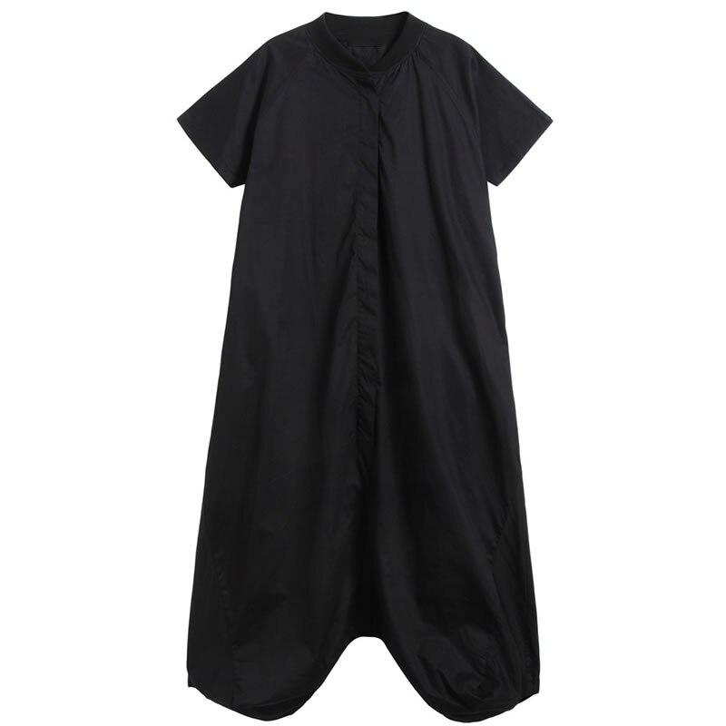 XITAO, mono de talla grande plisado para mujer, primavera 2020, elegante, con un solo pecho, bolsillo, diosa Fan minoritaria, informal, DMY3379 - 6