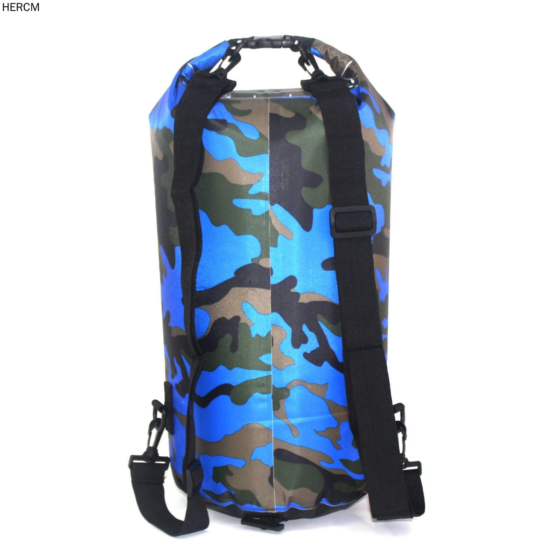 1X Outdoor Waterproof Camouflage Rafting Diving Dry Bags Sack PVC 2//5//10//15//20L
