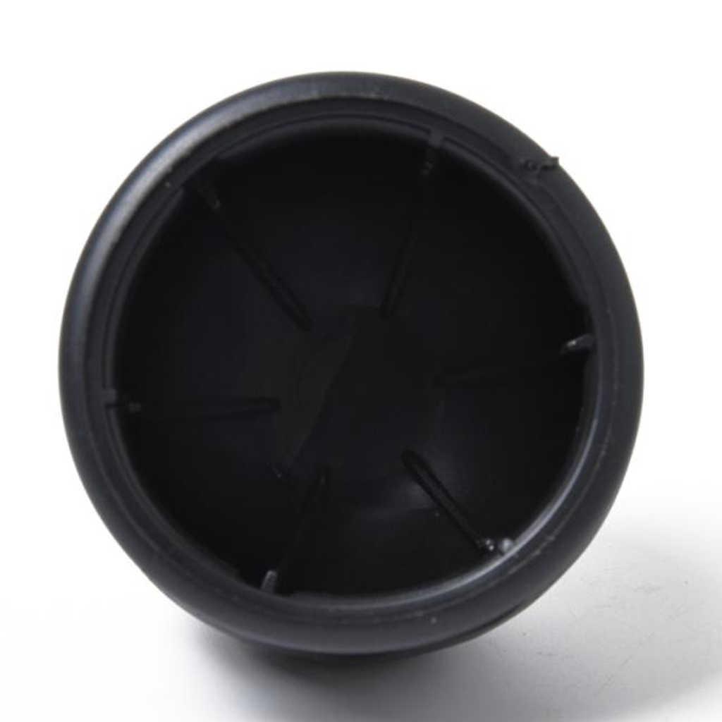 2 Inci Mobil Towbar Towball Cap Penarik Pelindung Cover Lembut PVC Push-Hitam