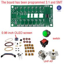 Tuner d'antenne automatique ATU100 ATU-100-50MHz, Kits de bricolage, ATU100mini par N7DDC 7x7 Firmware programmé/SMT/puce soudée/+ OLED, 1.8