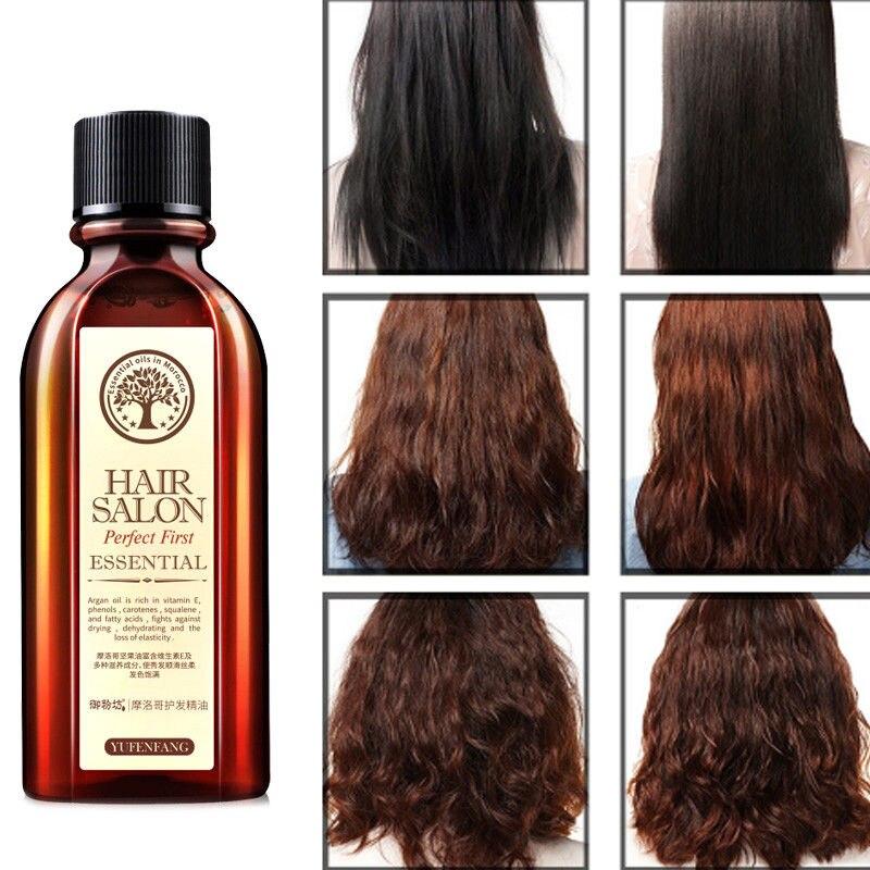New 60ml Hair Care Essence Treatment Oil Argan Oil Keratin Free Clean Hair Curly Gloss Repair Hair Growth Women Hair Care Mask