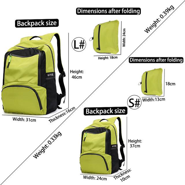 YINJUE New Backpack  Men women Size optional 35 shuttle superior quality Large Capacity Versatile Waterproof FoldableTravel bag
