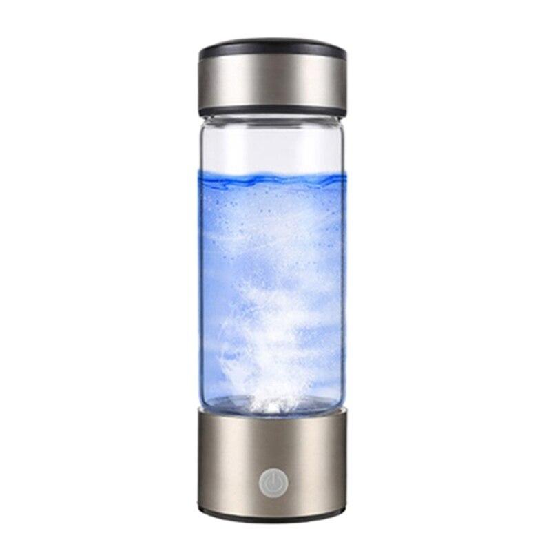 360Ml Hydrogen Water Generator Water Filter Rechargeable Portable Water Ionizer Bottle Super Free on Hydrogen Rich Water Cup|Water Bottles| |  - title=