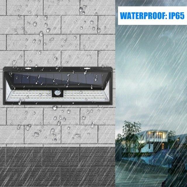 118 LEDs Solar Wall Light Motion Sensor Outdoor Garden Security Floodlight Bright Garden Garden Lawn Lamp IP65 Waterproof 1