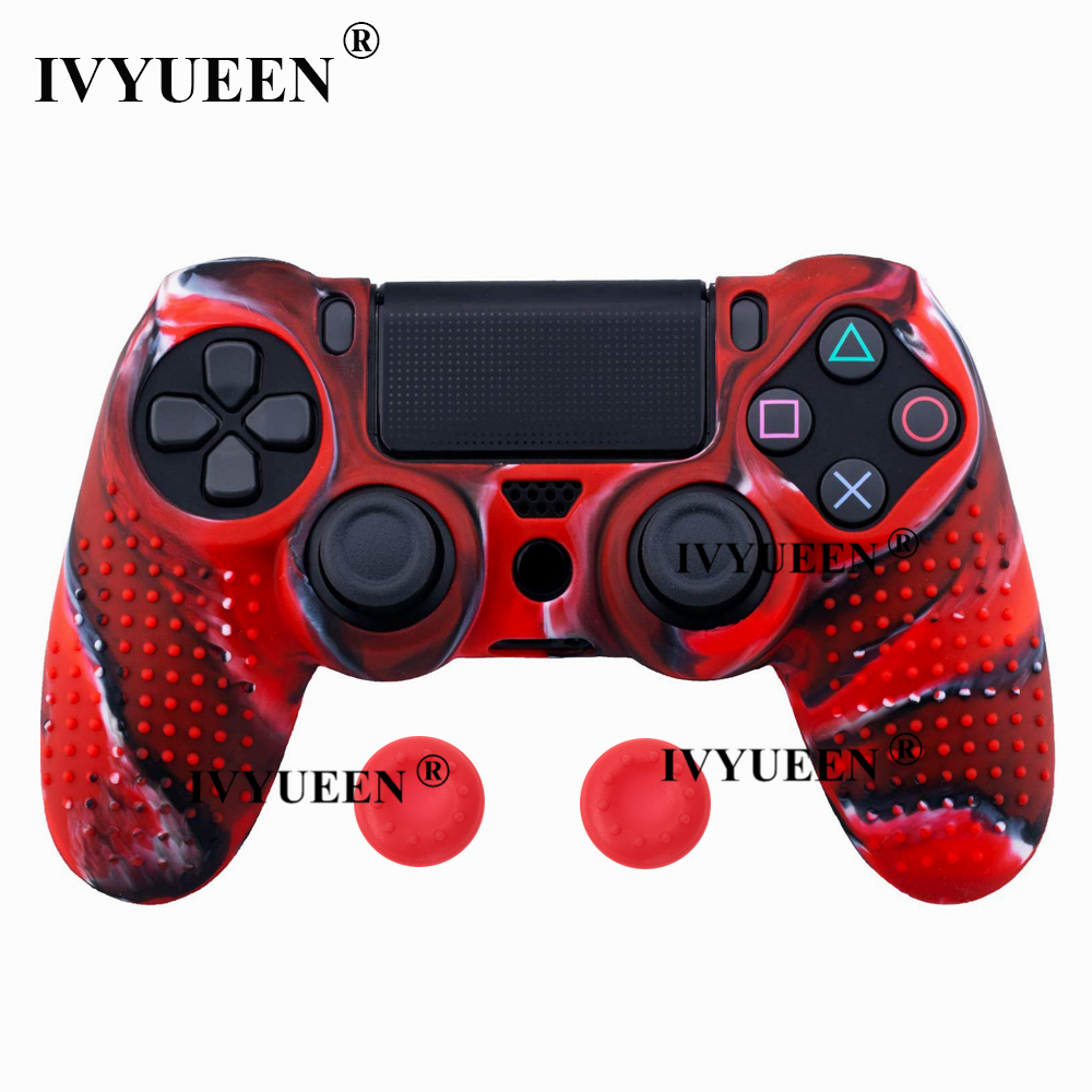 for Sony PlayStation dualshock 4 ps4 pro slim controller silicone case skin 26