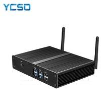 Fanless Mini PC Intel Celeron 2955U Windows 10 4GB/8GB DDR3L 60GB/120GB SSD 300M WiFi Gigabit LAN HDMI VGA 6 * USBเน็ตบุ๊กHTPC