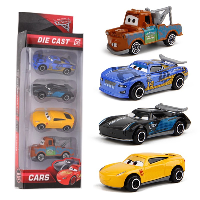 7PCS/Set Disney Pixar Car 3 Lightning McQueen Jackson Storm Mack Uncle Truck 1:55 Diecast Metal Car Model Toy Boy Christmas Gift 3
