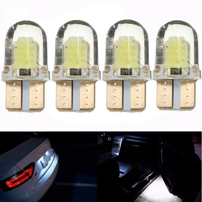 10pcs LED 194 168 COB 8SMD Led Parking Bulb Led Silica Bright White License Plate Light Bulb DC 12V