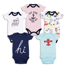 Summer Newborn baby Bodysuit Short Sleeve Babies Bebes Clothes Fashion Print Underwear Jumpsuit 3 24 m Boy girls Clothing