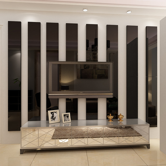 Simple-lines-Acrylic-3D-Wall-Stickers-Background-wall-decoration-Ceiling-waist-line-Living-room-dining-room