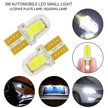 10pcs Silica gel LED COB W5W T10 194 8SMD clearance light Bulb for License plate reading car door trunk car lamp image