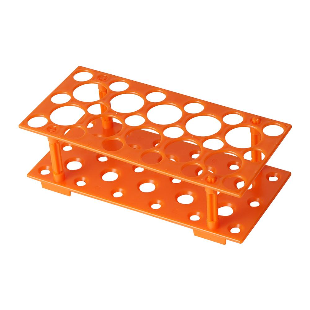 Test Tube Rack Holder 28 Sockets 10/15/50ml Centrifuge Tube Rack Laboratory Plastic Test Tubes Holder Stand Bracket 1Pc