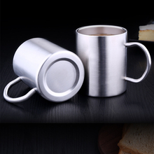 Stainless Steel Double Coffee Mugs: 100% BPA Free,15 oz Metal & Tea Cup Mug - Insulated Cups with Handles Keep Drinks Hot