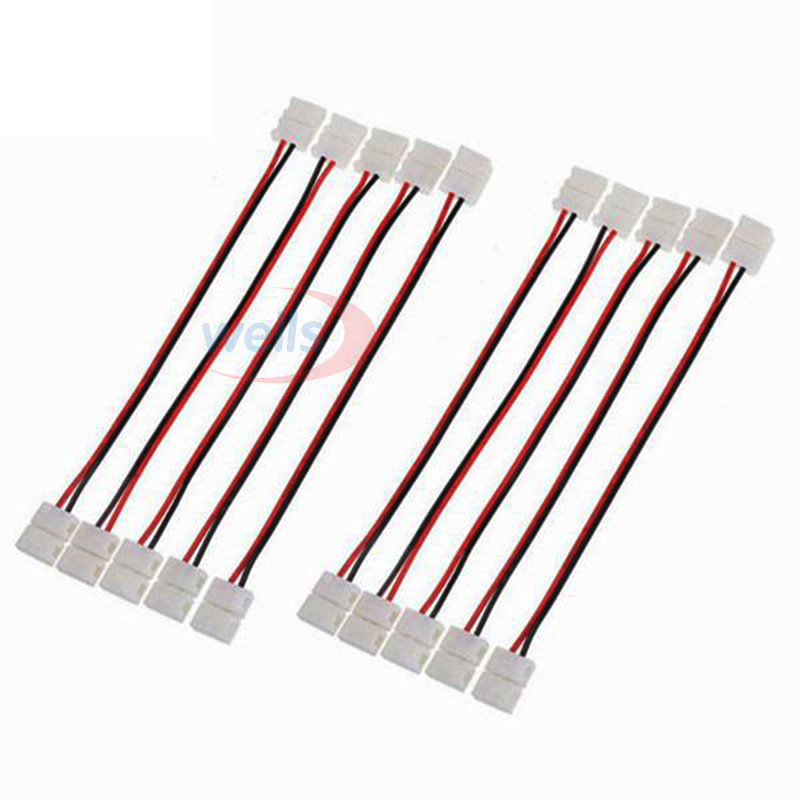 100pcs 2pin <font><b>3pin</b></font> <font><b>4pin</b></font> 5pin connector double Connector <font><b>Cable</b></font> For 3528 5050 WS2811 WS2812B 5050 <font><b>RGB</b></font> RGBW LED strip Light image