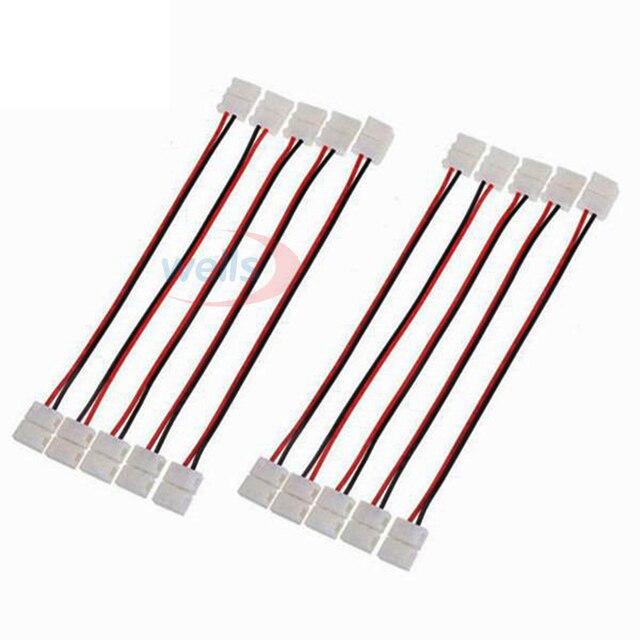 Câble à double connexion, 2/3/4/5 broches, 100 pièces, pour WS2811/WS2812B/3528, RGB/RGBW 5050, 5050 pièces