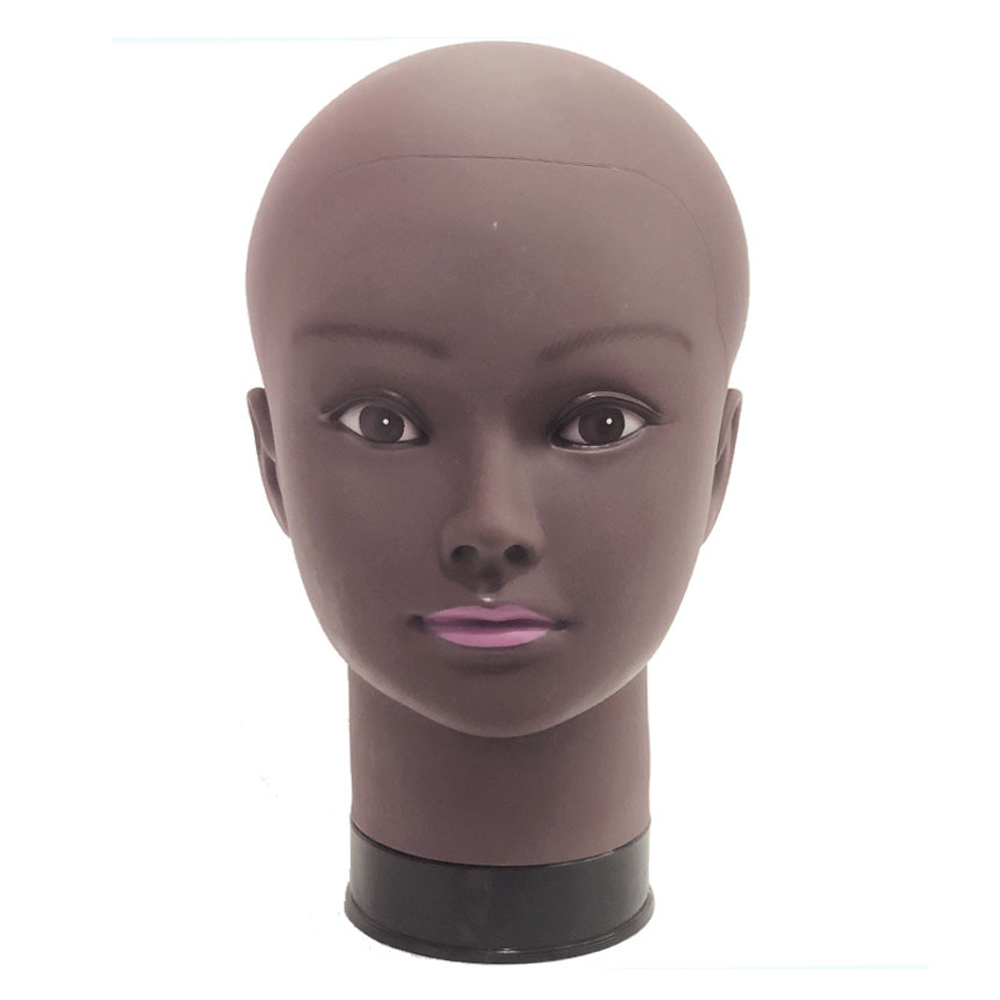 Afro Female Mannequin Head For Wig Making Manikin Model Making Styling Practice Hairdressing Hat Stand 54cm