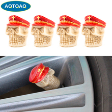 4Pcs/Set Car Modified Valve Caps Personalized Navy Tire Valve Caps Suitable for Car Bicycles and Motorcycles