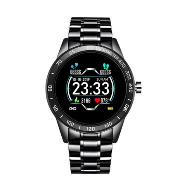 Multifonctionnel ceinture en acier montre intelligente plusieurs Modes de sport Smartwatch hommes podomètre fréquence cardiaque tensiomètre