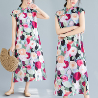 2019 chinese dress cheongsam qipao modern cheongsam dress short sleeve floral print qipao robe chinoise vestido oriental