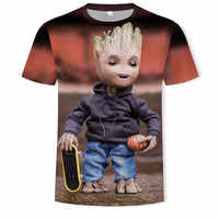 2019 NEW Marvel Avengers 3d Hip-hop Groot t shirt print superhero America T shirt Cosplay T shirt men new summer fashion t shirt