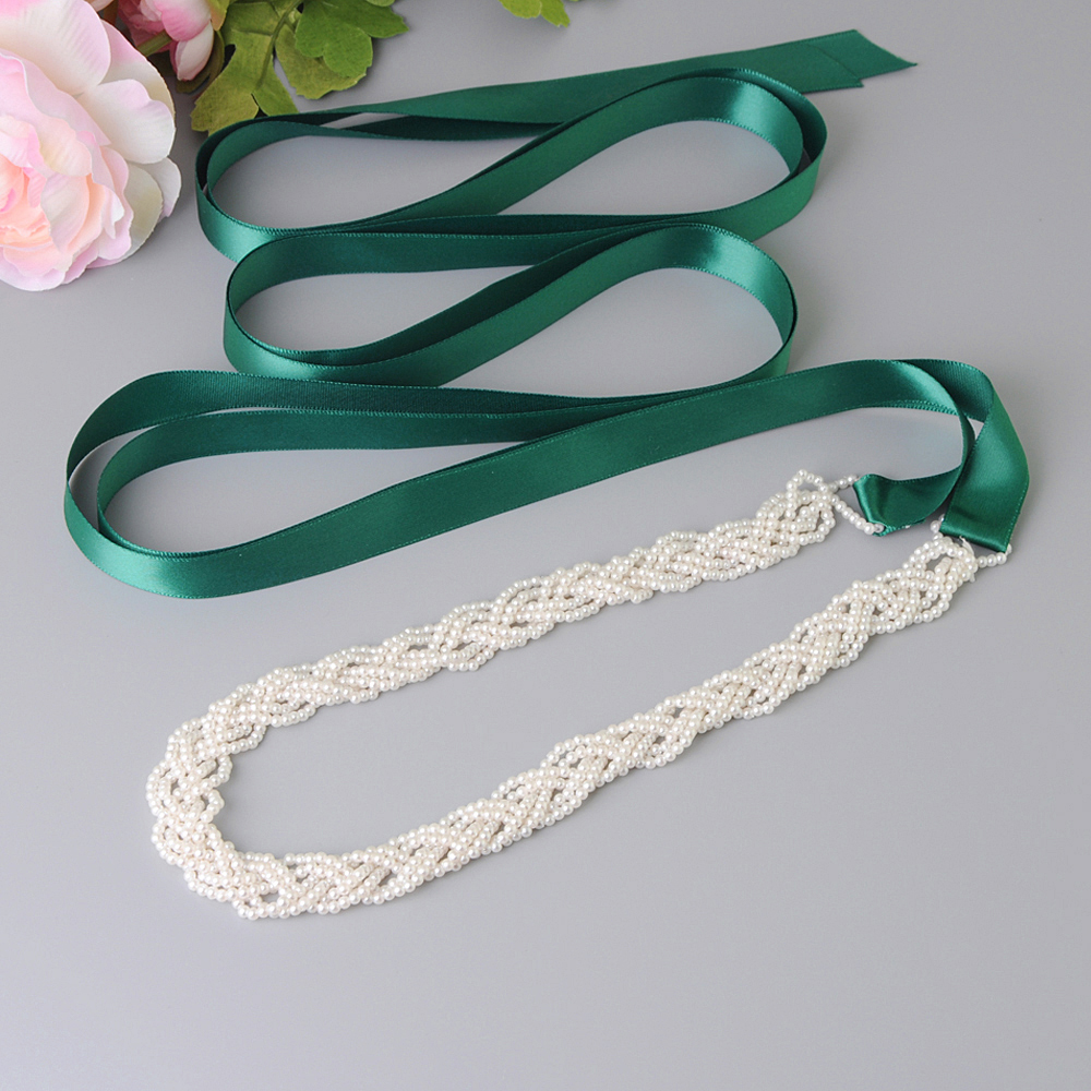 TOPQUEEN Wedding Belt Sash Dress Sashes For Women  Pearl Belt For Dress Bridal Belts With Pearls Prom  Party Dress Belt S262
